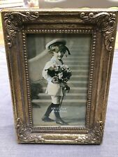 Vintage Style Gold Distressed Finish Photo Frame 3.5x5""