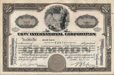 Stock certificate Coty International Corp. + 3 Transfer stamps 1939 broker Chase