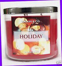 1 Bath & Body Works Slatkin & Co HOLIDAY 3-Wick Large Candle 14.5 oz Jar