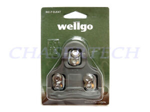 Wellgo RC-7A Road Bike Pedal Cleats 9 Degree Float Look Keo Compatible Gray