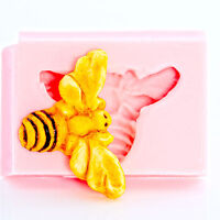Honey Bee Silicone Mold Flexible Resin Polymer Clay Food Safe Fondant Mold (802)