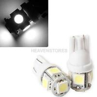 2PCS T10 5050 5SMD LED White Light Car Side Wedge Tail Light Lamp Bright hv2n