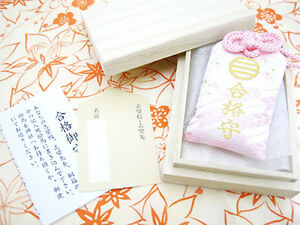 JAPANESE OMAMORI Charm Good luck your study Pass the Test from Japan Shrine Pink