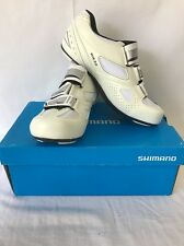SHIMANO WOMENS SH-WR35 ROAD SPECIFIC FIT RUNNING SHOES WHITE SIZE 7.2 NEW! $100