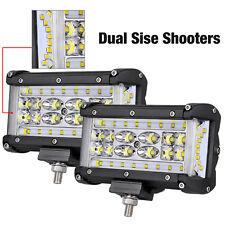 6in LED Work Light Bar Side Shooter Fog Pod Flood Combo 9D Offroad Driving Truck