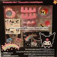 15pc Cosmetic Set KUROMI Gift Set POLISH+LIPGLOSS+RING+MIRROR+POUCH+BRACELETS+