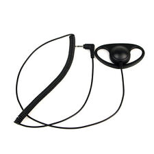 Listen Only D-Shape Earpiece Headset for Radio speaker Mic w/ 2.5mm mono jack co