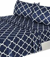 Bed Sheet Set (4 Pcs) 1 Flat Sheet 1 Fitted Sheet 2 Pillow Cases Utopia Bedding