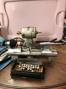 C E Marshall Jewelers Lathe Complete Headstock & Tailstock W/base. Working