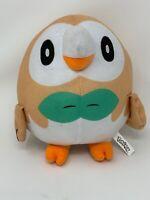"""Plush Pokemon Rowlet Owl Stuffed Animal 8"""" Round Nintendo 2019 Toy Factory"""
