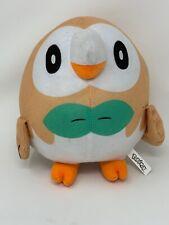 """Toy Factory Plush Pokemon Rowlet Owl Stuffed Animal 8"""" Round Nintendo 2019"""