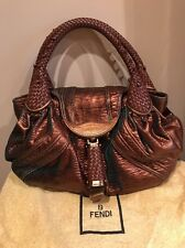 AUTHENTIC AND RARE FENDI  CHAMELEON 2 TONE LEATHER SPY BAG. Retailed $3000