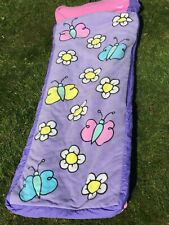 My First READY BED Kids Purple Butterflies Flowers Travel Sleeping Bag / Airbed