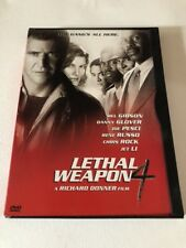 Lethal Weapon 4 dvd Mel Gibson Jet Li Danny Glover Chris Rock Used Two Sided