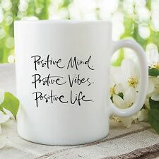Positive Attitude Mug Gift Great Kitchen Office Coffee Cup Work Decor WSDMUG290