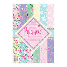 Pk 12 x A4 SAMPLE Paper Maker *Flourish* papers for cards and crafts