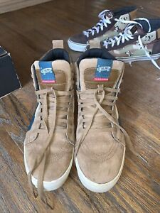 Vans Vault x The North Face Sk8-Hi MTE LX, size 12 Deep Teal & Toast