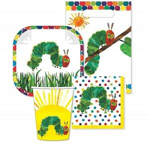 The Very Hungry Caterpillar 40pc Party Pack - Setting for 8 - Party Supplies