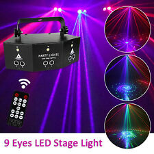 9-hole RGB Laser Strobe Bühnenlicht Projektor Licht DMX Disco KTV DJ Party Show