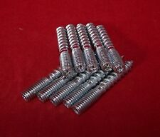 10 Stück Stockschrauben Stahl verzinkt M 6 x 40 mm Torxantrieb
