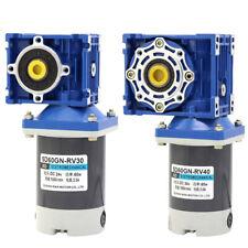 RV40 RV30 Worm Gear Motor 24V High Torque Reduction Gear Box Motor 21 - 420 RPM