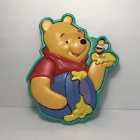 Vintage 2000 Fisher Price Disney's Winnie The Pooh w/ Bee Plastic 3D Tray Puzzle