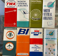 Lot Of 8 Vintage 1960s Airline Schedules Packet