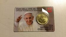 Coin card du VATICAN N°5 année 2014. NEUVE sous blister tirage 70000 ex