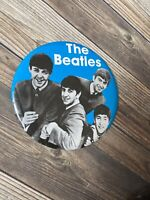 "NOS Vintage The Beatles Large 6"" Button Pin  GEORGE JOHN PAUL RINGO"