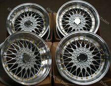 """8.5+10 X 17"""" SILVER RS ALLOY WHEELS FOR BMW 5 SERIES E12 E28 E34 E39 E60 E61 F10"""