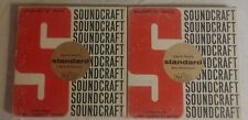 Soundcraft Magnetic Tape 1200 Feet 1.5 mil acetate base SET OF TWO Used L@@K.