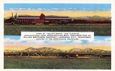 JOHNSON CITY, Tennessee   MILLER BROTHERS FLOORING Advertising  c1940's Postcard
