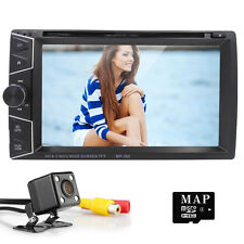 "6.2"" GPS Double 2 DIN In Dash Car Stereo DVD Player USB Bluetooth IPOD TV Radio"