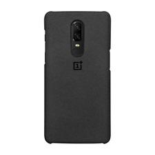 OnePlus 6 Sandstone Bumper Case Protective Cover (Black) Official Original