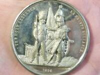 1854 Crimean War Holy Alliance SOLDIERS WM Medal 44mm SUPERB GRADE #T2261