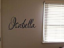 Custom Isabella Boys Girls Room Nursery Baby Kids Name Vinyl Wall Quote Sticker