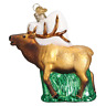 Old World Christmas ELK (12502)N Glass Ornament w/ OWC Box