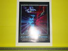 Poster AFFICHE Cinéma ORIGINALE du film STAR TREK III Recherche de Spock 24 x 32