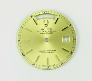 GENUINE ROLEX PRESIDENT 18038 DAY-DATE 28MM CHAMPAGNE DIAL WATCH PART