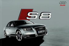Audi S8 Prospekt 8/08 2008 Broschüre Autoprospekt Katalog brochure brosjyre Auto