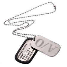 Gangsta Nicolas Brown A/0 Anime Cosplay Dog Tag Necklace Chain