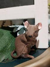 Beautiful Shiny Porcelain English Mouse Figurine