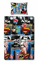 Batman V Superman DC Comics Kids Reversible Single Duvet Cover Bedding Set