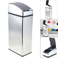 Mülleimer Automatik mit Sensor Deckel Abfalleimer Küche Edelstahl 6L Silber Led