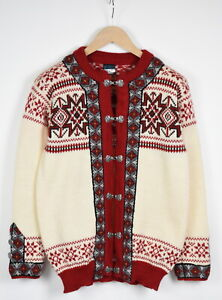DALE OF NORWAY Women's MEDIUM Chunky Nordic Wool Cardigan Sweater 36238_GS