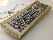Steampunk Keyboard USB, Brass, Polystone, Unique Handbuilt, Hand Made, NEW RARE