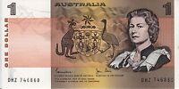 $1 One Dollar 1982 Australia paper banknote - Crisp - Flat - UNC - DHZ series