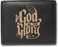 To God Be the Glory Calligraphy RFID Blocking Cowhide Leather Luxury Wallet
