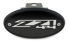 Chevrolet Z71 4x4 Receiver Hitch Cover - Black - Silver Engraved Logo - USA Made