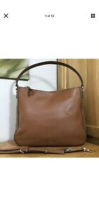 Kate Spade *Jackson* Tan Leather Double Compartment Shoulder Bag